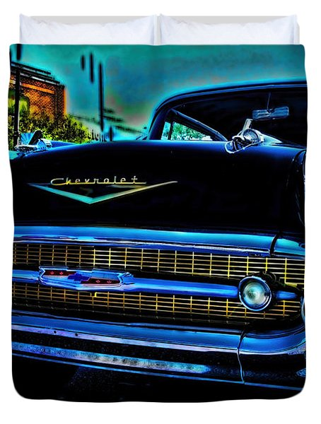 Drive In Special Duvet Cover by Lesa Fine