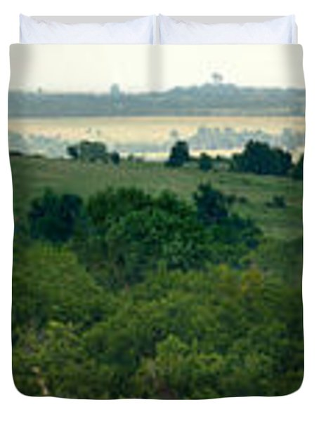 Drive The Flint Hills Duvet Cover