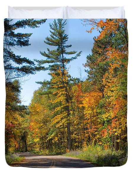 Drive Through Splendor In Minnesota Duvet Cover