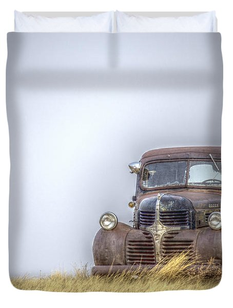 A Rusty Abandoned Truck Near Sturgis South Dakota Duvet Cover