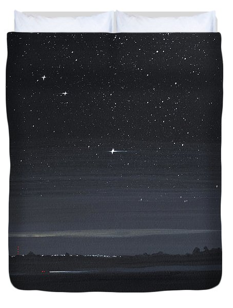 Driving At Night Duvet Cover