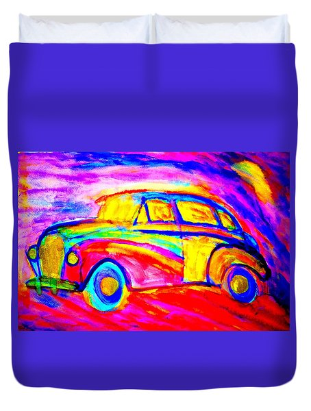 Driving Home Late At Night    Duvet Cover