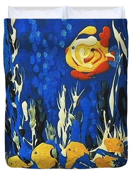 Drizzlefish Duvet Cover