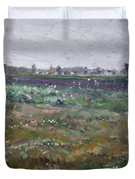 Drizzly Day By Shaw Barn  Duvet Cover
