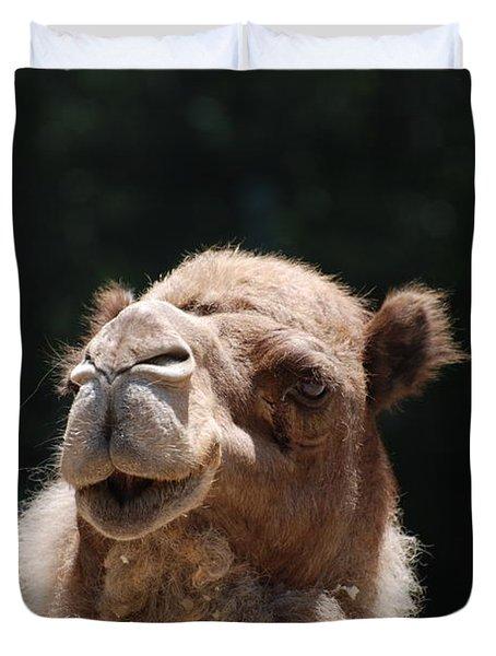 Dromedary Camel Face Duvet Cover by DejaVu Designs