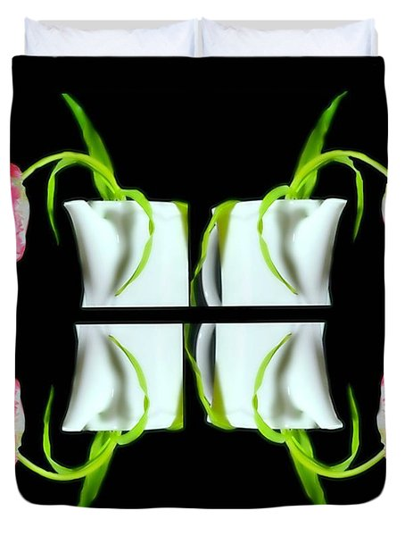 Droopy Tulips Duvet Cover