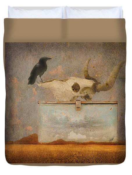 Drought And The Illusion Of Water Duvet Cover by Jeff Burgess