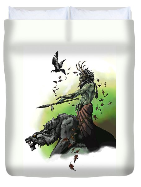 Druid Duvet Cover by Matt Kedzierski