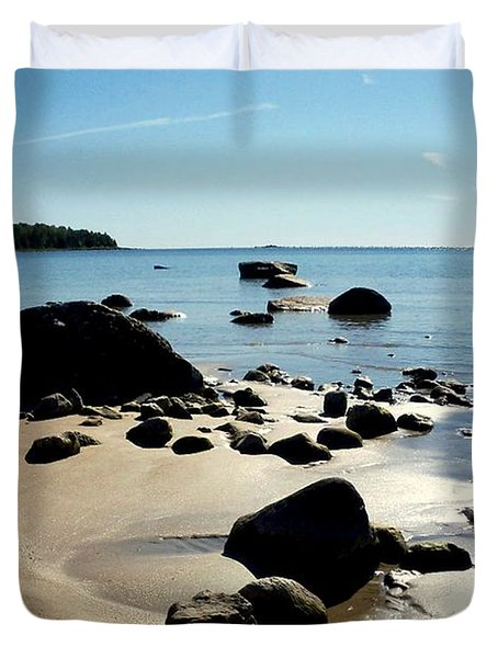 Drummond Shore 2 Duvet Cover by Desiree Paquette