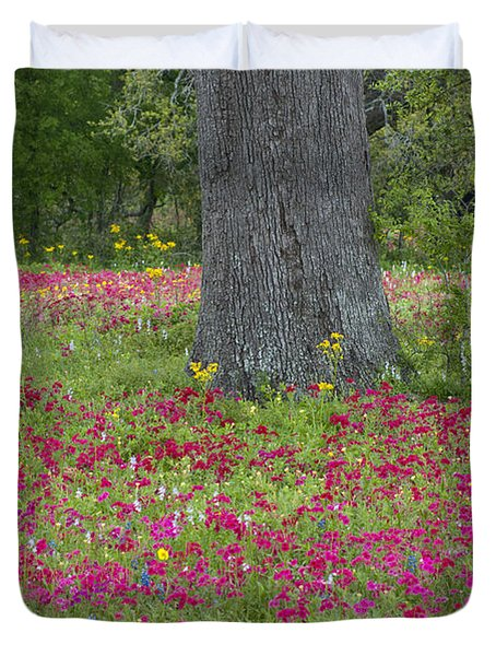 Drummonds Phlox And Crown Tickweed Central Texas Duvet Cover