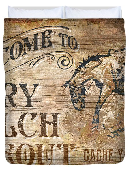 Dry Gulch Hideout Duvet Cover by JQ Licensing