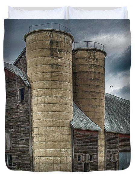Dual Silos Duvet Cover by Paul Freidlund