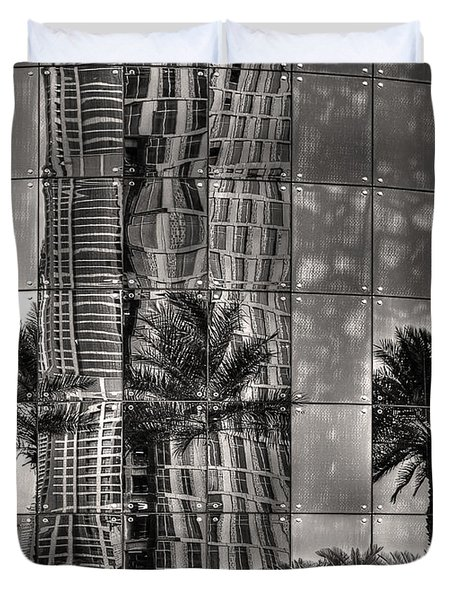 Dubai Street Reflections Duvet Cover