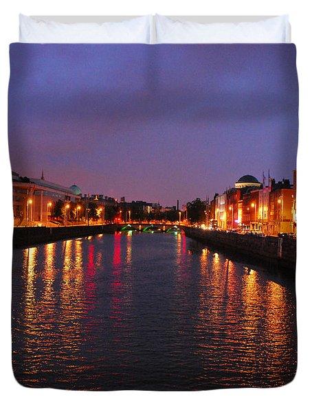 Dublin Nights Duvet Cover by Mary Carol Story
