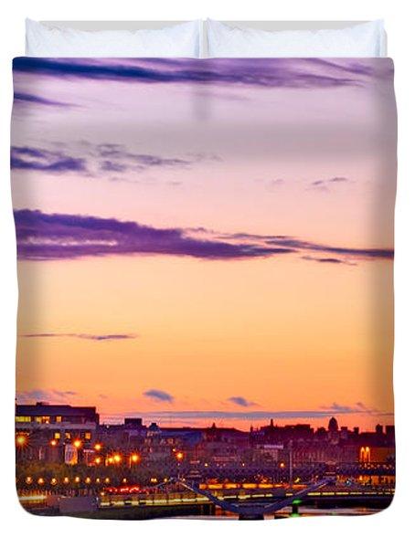 Dublin Skyline At Dusk / Dublin Duvet Cover