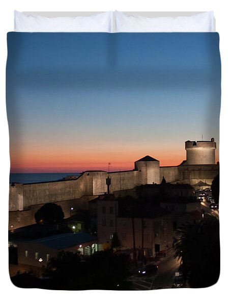 Duvet Cover featuring the photograph Dubrovnik by Silvia Bruno