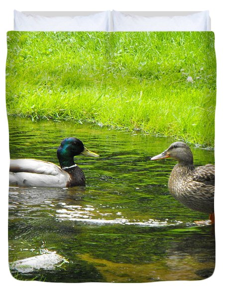 Duck Couple Duvet Cover