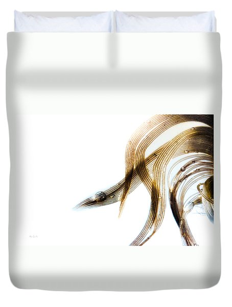 Duck Feather And Water Drops Duvet Cover by Bob Orsillo