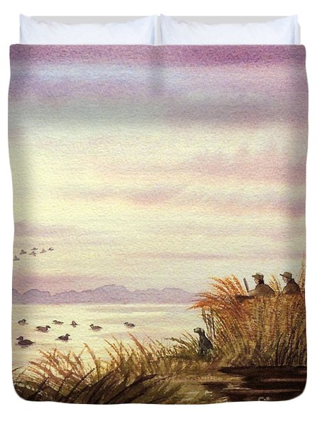 Duck Hunting Companions Duvet Cover