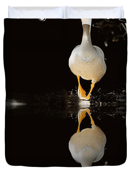 Duck On Stage Duvet Cover