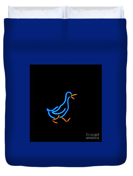 Duck Room Mascot Duvet Cover by Kelly Awad