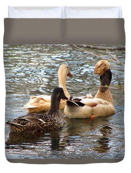 Duck Trio Duvet Cover