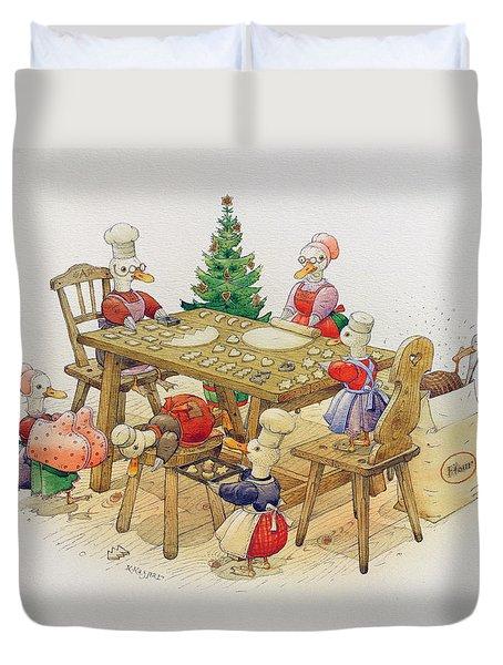 Ducks Christmas Duvet Cover