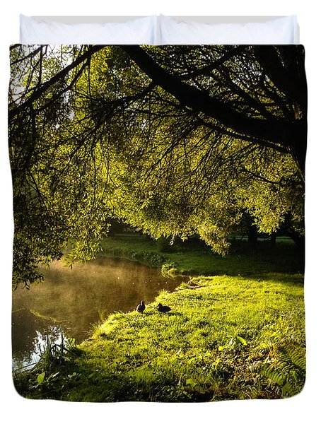 Ducks Of The Dawn Duvet Cover