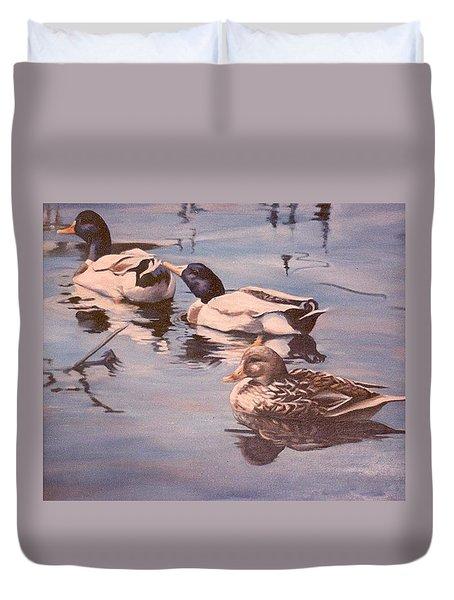 Ducks On The Cachuma Duvet Cover