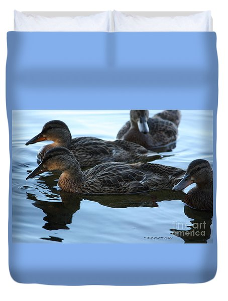 Ducks Reflecting Duvet Cover