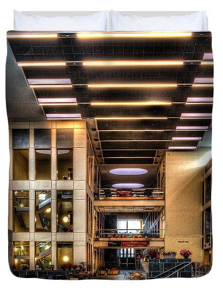 Duffield Hall Cornell University Duvet Cover