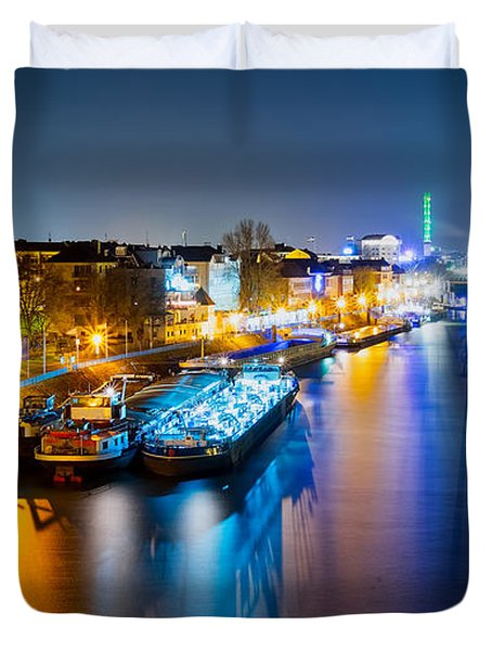 Duisburg Rhine East Bank Dammst Duvet Cover