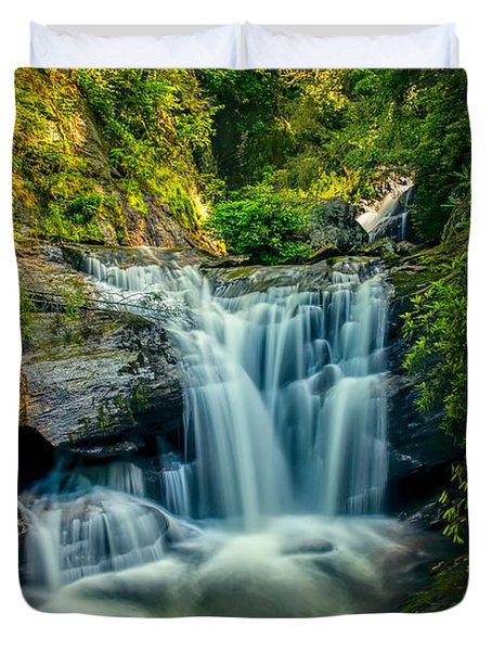 Dukes Creek Falls Duvet Cover by John Haldane