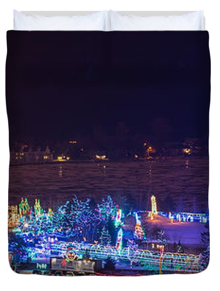 Duluth Christmas Lights Duvet Cover