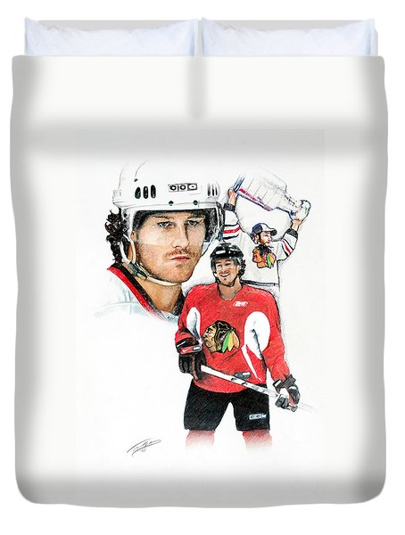 Duncan Keith Duvet Cover by Jerry Tibstra