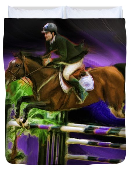 Duncan Mcfarlane On Horse Mr Whoopy Duvet Cover