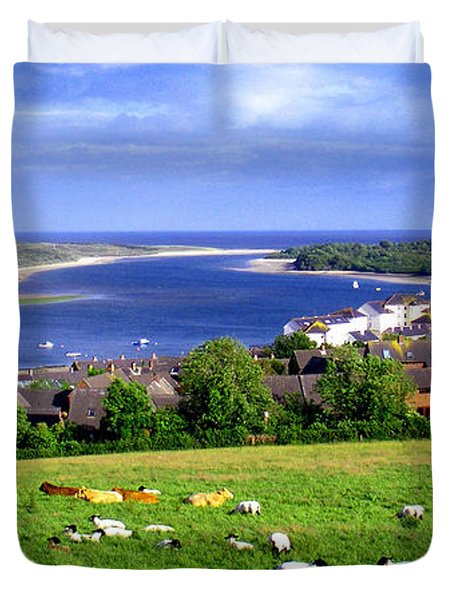 Duvet Cover featuring the photograph Dundrum Bay In County Down Ireland by Nina Ficur Feenan