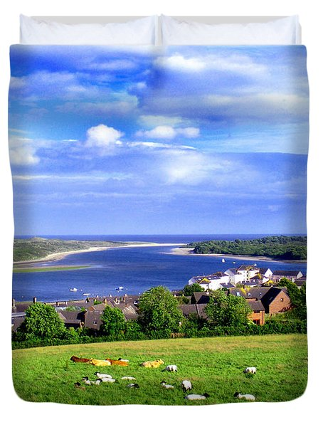 Dundrum Bay Irish Coastal Scene Duvet Cover by Nina Ficur Feenan
