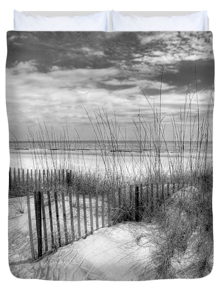 Dune Fences Duvet Cover