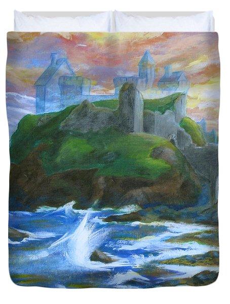 Dunscaith Castle - Shadows Of The Past Duvet Cover