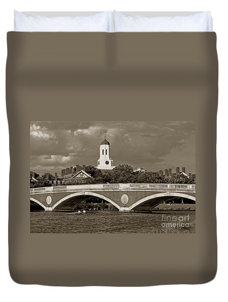 Weeks Bridge Charles River Bw Duvet Cover