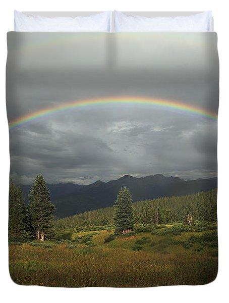 Durango Double Rainbow Duvet Cover by Alan Vance Ley