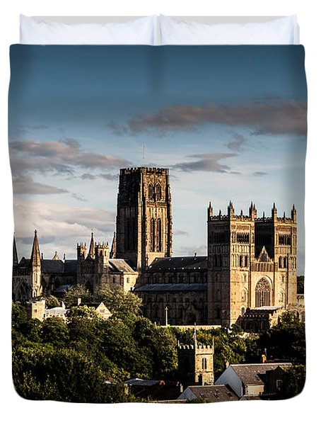 Duvet Cover featuring the photograph Durham Cathedral by Matt Malloy