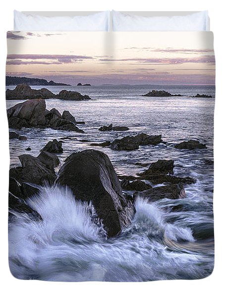 Dusk At West Quoddy Head Light Duvet Cover