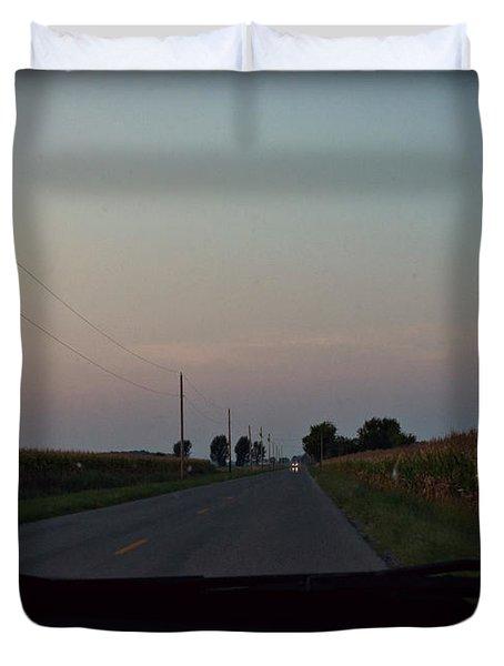 Dusk Between The Corn Stalks Duvet Cover by Paulette B Wright