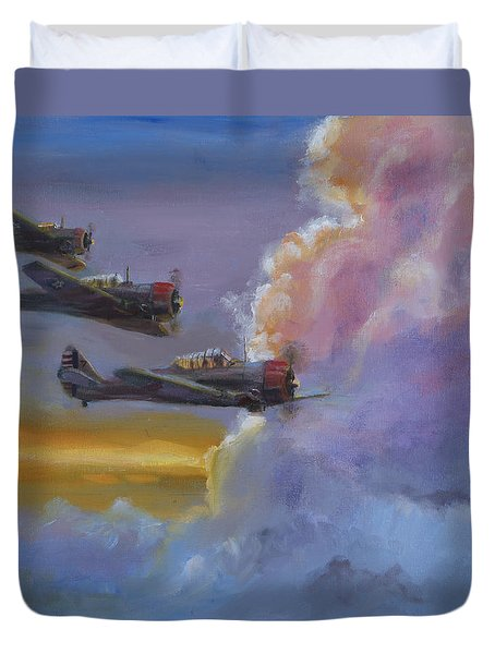 Dusk Flight Duvet Cover by Christopher Jenkins