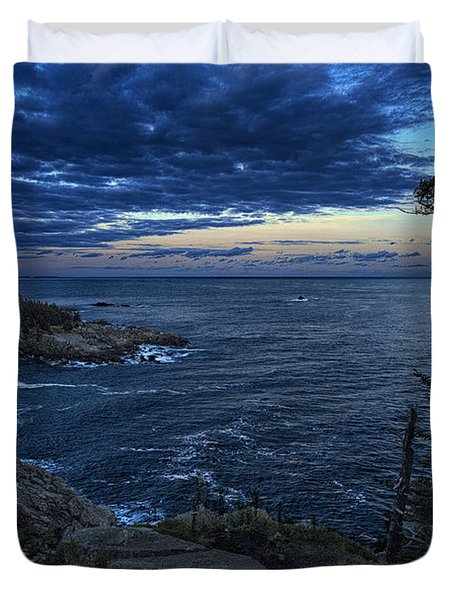 Dusk Vista At Quoddy Head State Park Duvet Cover by Marty Saccone