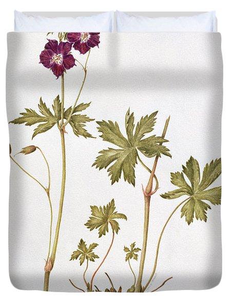 Dusky Cranesbill Duvet Cover by Diana Everett
