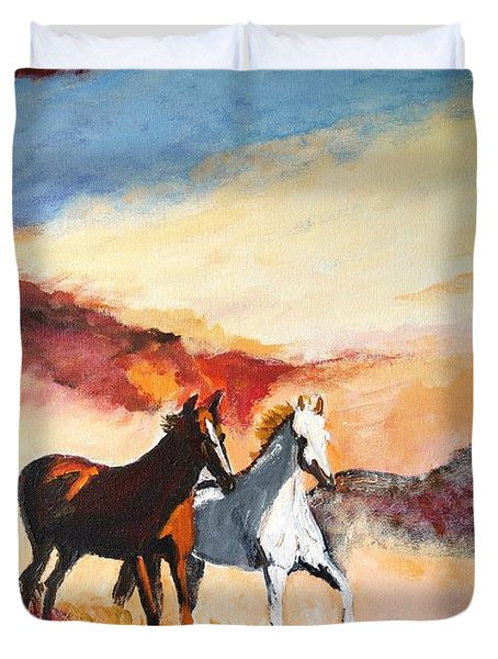 Dust In The Wind Duvet Cover by Judy Kay