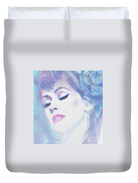 Dusty Blues Duvet Cover
